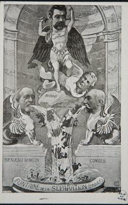 4 Séparation de l'Eglise et de l'Etat, dessin caricatural