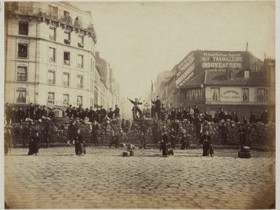 Barricade de la Chaussée Ménilmontant, 18 mars 1871.